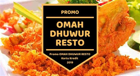 promo omah dhuwur resto kartu kredit diskon  travels
