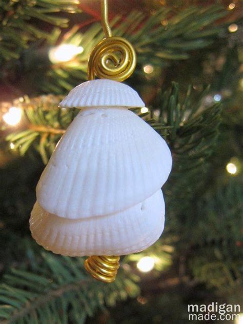 christmas crafts with shells ornament idea made with shells sea water ornaments