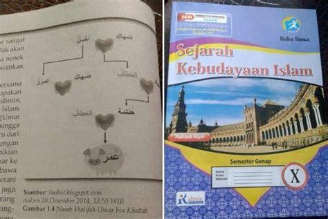 Pai Sejarah Kebudayaan Islam Untuk Ma Kelas X Kurikulum 2013 beredar buku pelajaran gambarkan umar bin khattab sebagai hewan republika