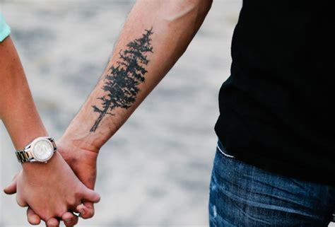 tree tattoo forearm 30 refreshing evergreen tree designs amazing