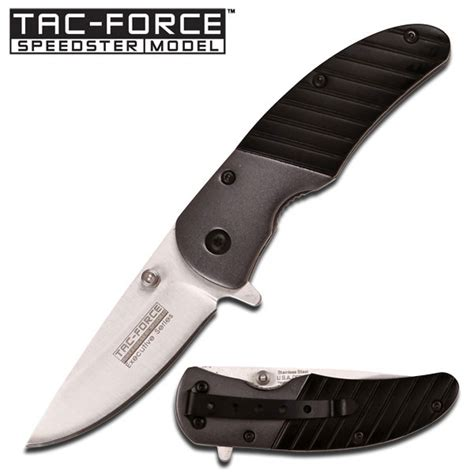 tac black roach small assisted folding knife
