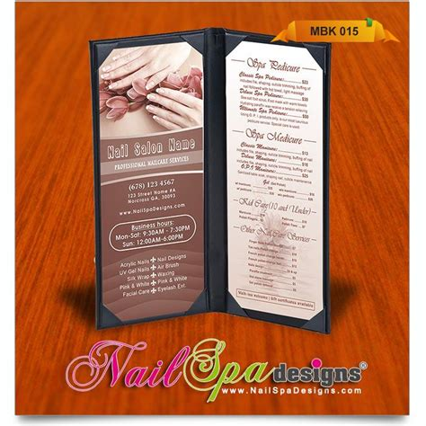 menu book template 15 best images about spa menu on rustic