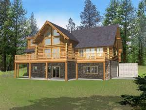 cabin style house plans marvin peak log home plan 088d 0050 house plans and more