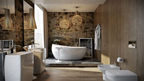 Modern Wood Bathroom by Modern Bathroom By Paul Vetrov Wood And Shadows