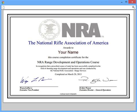 nra certificate template nratraining user guides how to get a certificate of