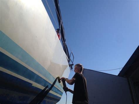 Wachs Mit Maschine Polieren by Polieren Der Au 223 Enhaut Mit Bootspolitur Und Wachs