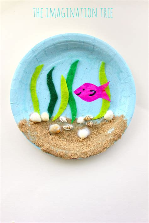 Paper Plates Craft - the sea paper plate craft the imagination tree