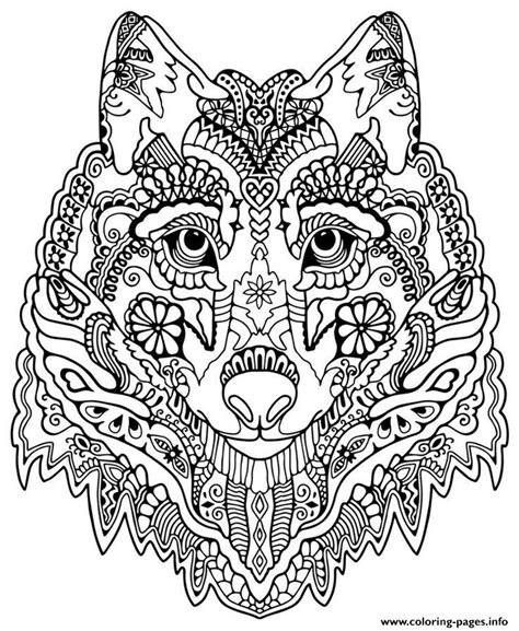 grown up coloring pages mandala wolf mandala grown up coloring pages printable