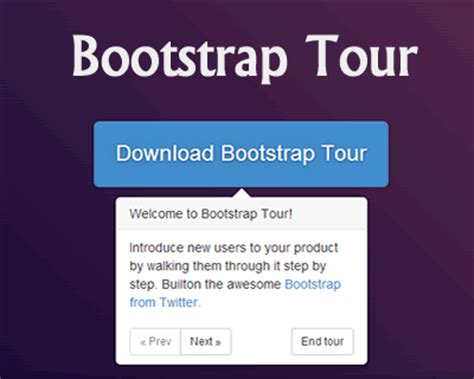 bootstrap tutorial with jquery bootstrap tour quick and easy product tours with