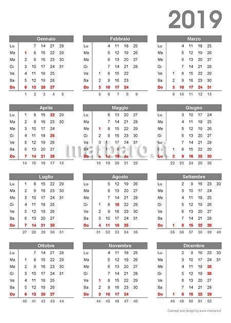 calendario con settimane calendario 2019 da stare 9 pdf da scaricare gratis