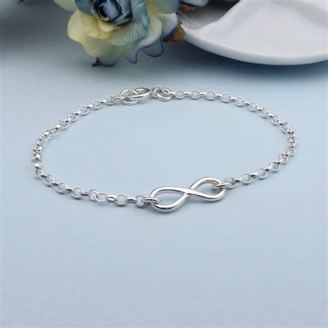 infinity bracelet sterling silver infinity bracelet can be personalised by