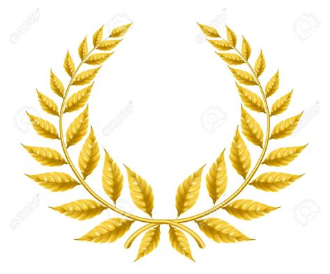 laurel leaf crown template award wreath clipart yellow clipground