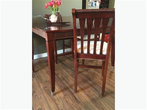 Cherry Kitchen Table Sets Cherry Wood 10 Peice Dining Kitchen Table Set Rural