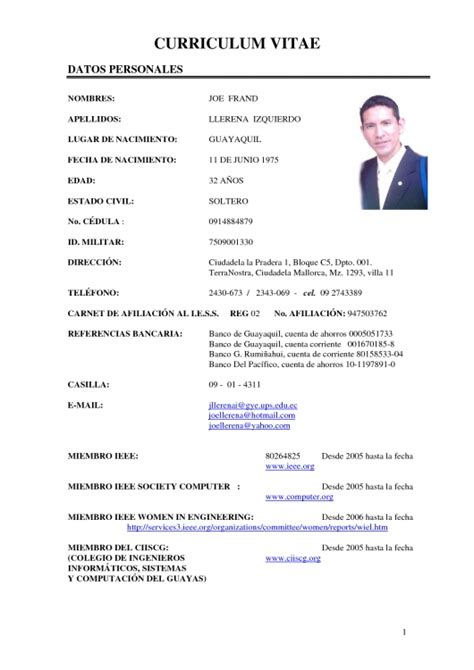 Resume Format Pdf Engineering by Formato De Curriculum Vitae 2016 Resume Template Example