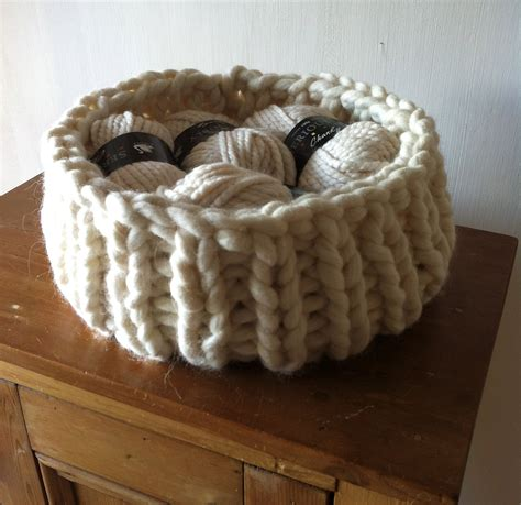 knit basket pattern knitted basket progress knitting revolution