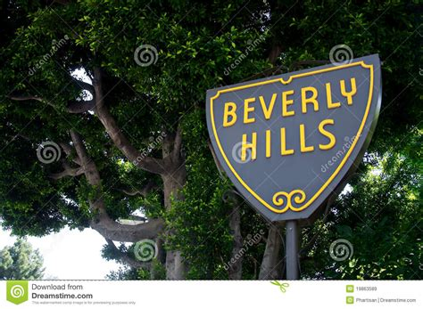 beverly hills sign beverly hills sign royalty free stock images image 19863589