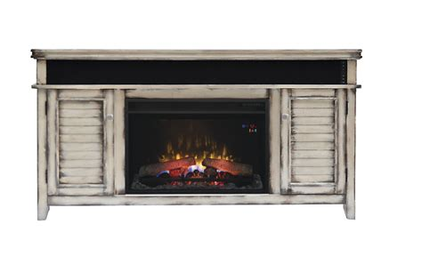 Media Mantel Electric Fireplace by 59 5 Quot Simmons Country White Media Mantel Electric