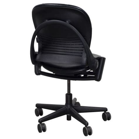 steelcase player chair armless steelcase leap armless used leather task chair black
