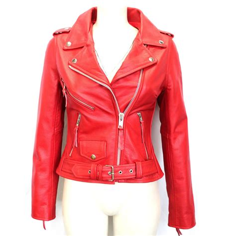 red leather motorcycle jacket red leather jacket womens designer jackets