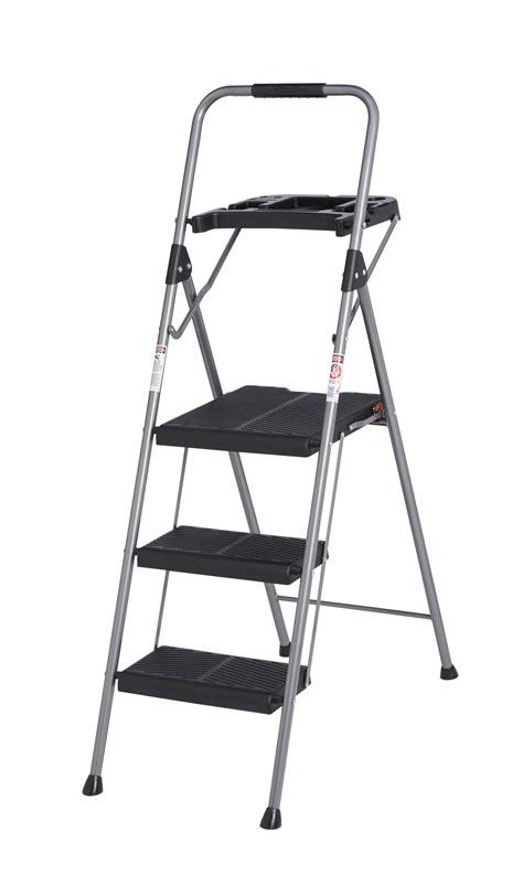 Werner 3 Step Stool by Werner 3 Tread Steel Step Stool Departments Diy At B Q