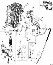 mercury marine 175 hp verado 4 stroke 4 cylinder starboard cylinder block cooler parts
