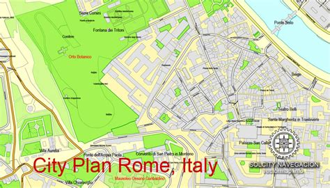 rome city map rome italy printable city plan vector map mappa roma