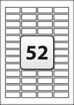 52 tamper evident labels per a4 sheet 42 mm x 16 mm