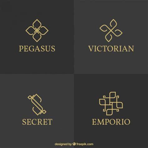 elegant logo design photoshop variety of elegant logos vector premium download