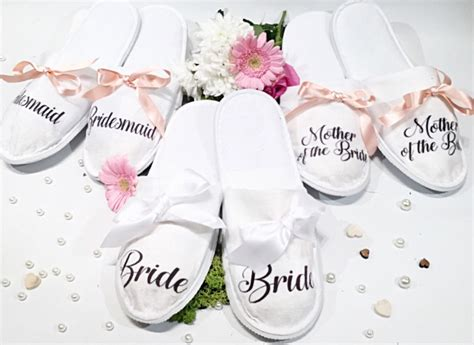 Wedding Slippers by Personalised Wedding Slippers Bridesmaid Slippers