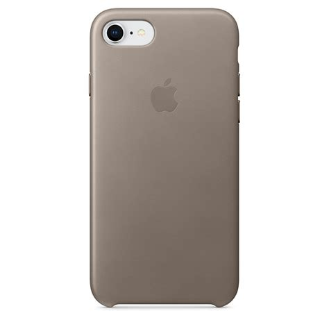 iphone   leather case taupe apple