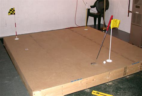 build your own 8 x 8 indoor putting green cheaply