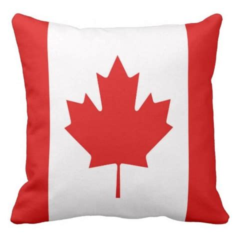 Sofa Pillows Canada Canada Maple Leaf Flag Canadian Throw Pillow Canada Flags And Cushions