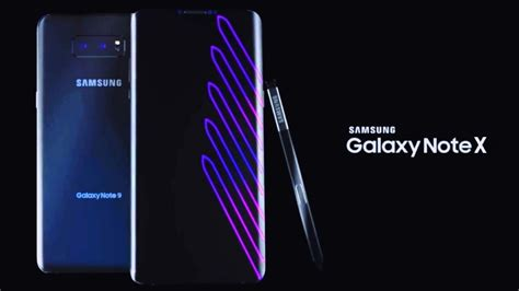 samsung x 2018 samsung galaxy note x reveal trailer 2018