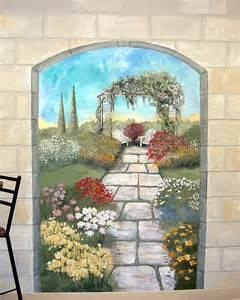 garden mural on a cement block wall colorful flower garden mural with elk indoor outdoor vinyl wall mural wall mural at allposters com