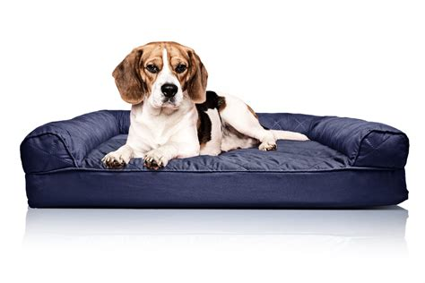 orthopedic dog couch medium quilted orthopedic dog sofa bed pet bed navy