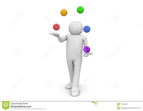 juggler 3d pattern juggler stock photos image 13769793