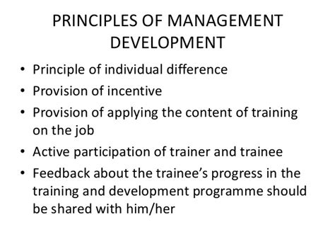 Principles Of Management Syllabus For Mba by Management Development