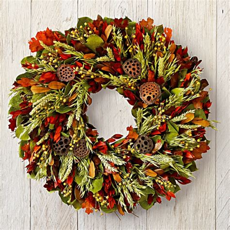 autumn wreaths autumn harvest wreath williams sonoma