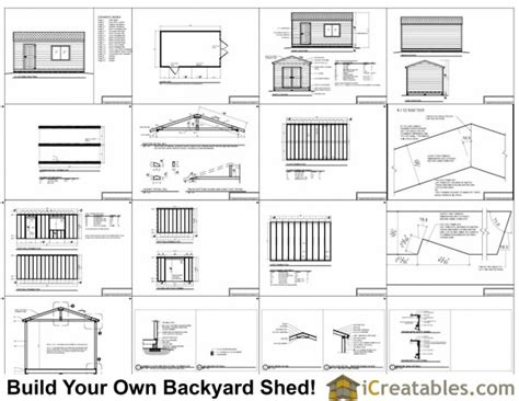 12x20 shed plans 12x20 storage shed plans icreatables com