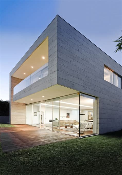 modern houses architecture luxury glass and concrete home design at open block house
