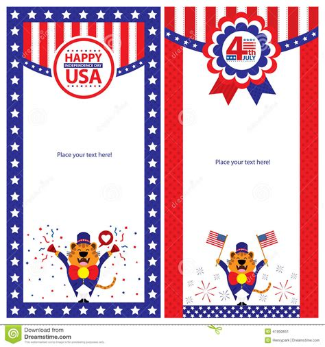 american greetings card templates american independence day template card sets stock vector