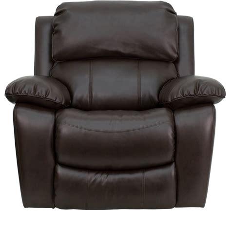 brown leather rocker recliner chair brown leather rocker recliner men da3439 91 brn gg by
