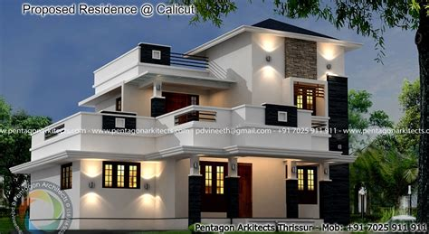 elegant home in 1850 square feet kerala home design and 1850 square feet double floor contemporary home design