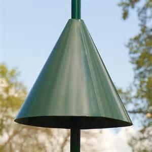 pole mounted feeder squirrel guard rspb bird feeder