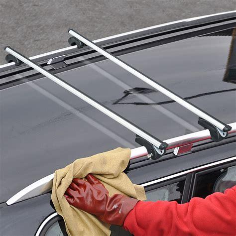 homcom barres de toit voiture universel porte bagage