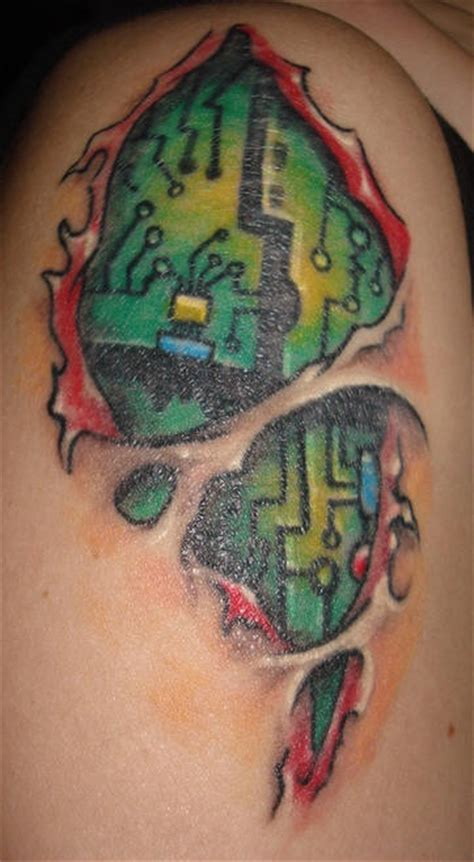 tattoo my photo pc digital board under skin rip tattoo in colour