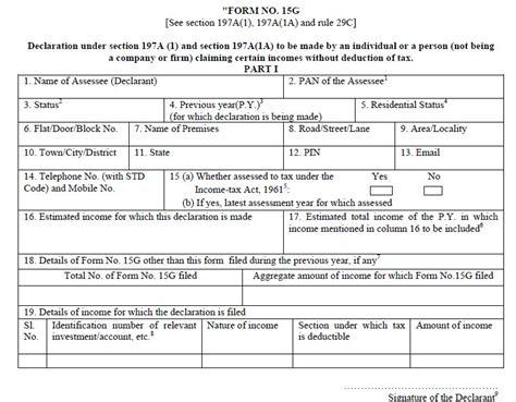 Premature Fixed Deposit Withdrawal Letter Format In Word How To Fill New Form 15g Or New Form No 15h