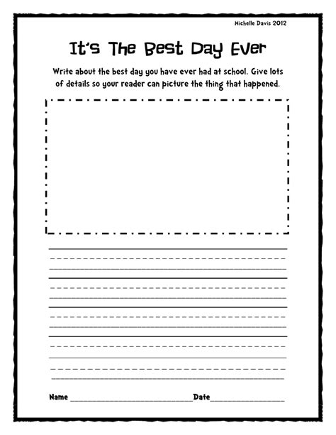 printable journal writing worksheets free printable writing activities for first grade