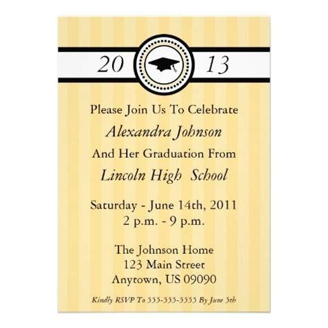 invitacion de graduacion en espanol invitaciones de la graduaci 243 n de las rayas oro anuncios