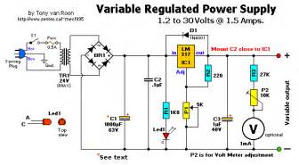 Bench Power Supply Diy Variable Power Supply Regulated Circuit Wiring Diagrams